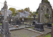 Graves with Memorial Crosses - The Irish Place