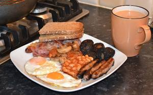 Full Irish Breakfast with Black Pudding - The Irish Place