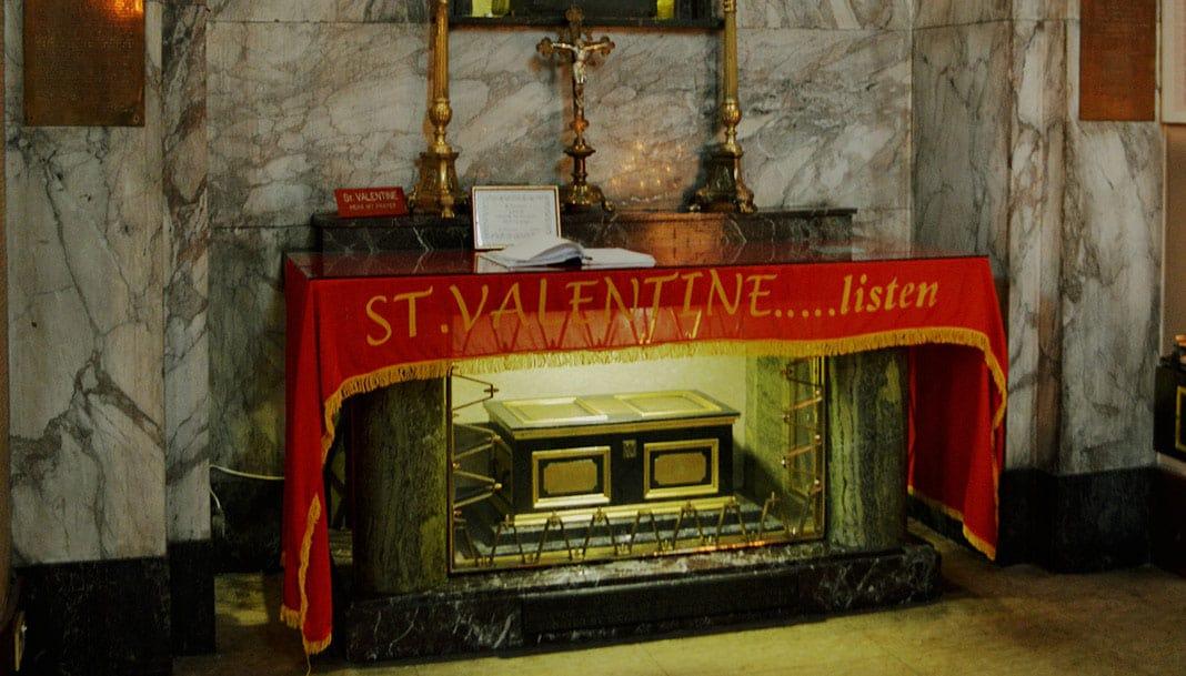 Statue of St. Valentine - The Irish Place