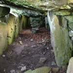 A view of the interior of the main chamber of the Labbacallee Wedge Tomb - The Irish Place