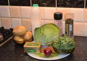 The main ingredients for Colcannon (Cabbage or Kale can be used) - The Irish Place