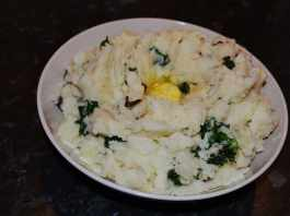 A nice freshly made bowl of Colcannon ready to serve and enjoy - The Irish Place
