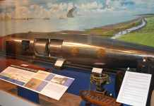 The last example of the Brennan Torpedo on display in The Royal Engineers Museum, Chatham, Kent - The Irish Place