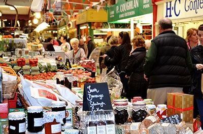 A view of a selection of the Food Stalls at The English Market in Cork. - The Irish Place