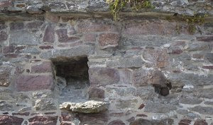 Cannonball fired during the Parliamentary siege in 1650 embedded in the walls of Reginald's Tower - The Irish Place