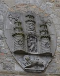 The Kilkenny Coat of Arms on the right side wall of the Tholsel. - The Irish Place