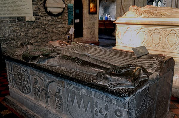 Some of the tombs of the Butler Family with their elaborately carved almost lifelike effigies. - The Irish Place