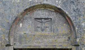 Crucification Scene dated 1644 in the southern wall of Kilnaboy Church - The Irish Place