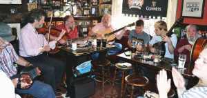 Rafferty in session at The Brazon Head, Dublin - The Irish Place