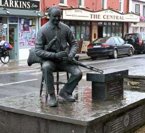 The Willie Clancy Memorial Sculpture in Miltown Malbay, Co. Clare - The Irish Place