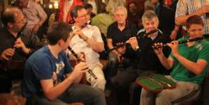 A session in Tubbercurry with the Irish Flute being the predominant instrument - The Irish Place