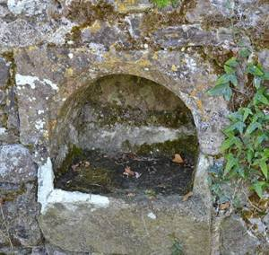 Holy Water Stoup in Knockboy Medieval Church - The Irish Place