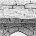Illustration of the Ogham Stone Lintel in the Southern Doorway (Brash, 1868) - The Irish Place