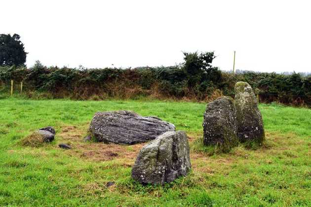 Knockboy Stone Row from a Northernly direction - The Irish Place