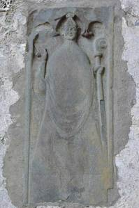 Carving of a Bishop in Corcomroe Abbey - The Irish Place