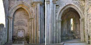 North and South Transcept Chapels at Corcomroe Abbey - The Irish Place #theirishplace