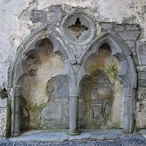 Possible Sedilia next to Conor O'Brien's Tomb in the North Wall in Corcomroe Abbey - The Irish Place