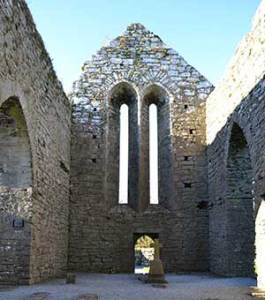 Western Gable wall in Corcomroe Abbey - The Irish Place