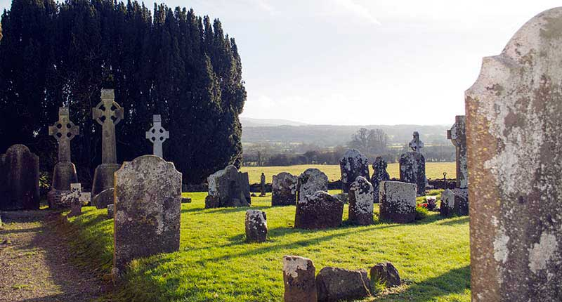 Graveyards at Sacred Sites