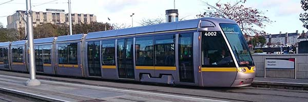 Public Transport in Ireland, a LUAS Tram