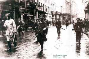 The Anti-Treaty IRA patrol on Grafton Street, May 1922