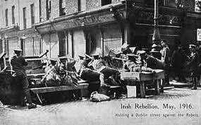 A British barricade at Moore Street.