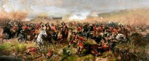 The battle of Aughrim as depicted in the late 19th century.