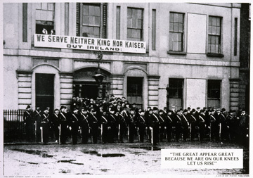 Opinion remembering world war i in ireland the irish story the citizen army banner in 1916 fandeluxe Image collections