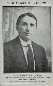 JJ Walsh who held talks with Eoin McNeill, The O'Rahially and Desmond Fitzgerald at McNeill's house in Herbert park to try and arrange a working relationship between the Hibernian Rifles and Irish Volunteers