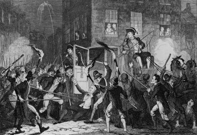 robert emmet the  proclamation of independence and the ghost of  a representation of the killing of lord kilwarden during emmets failed  rebellion in