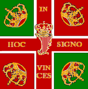 The banner of the Irish Brigade.