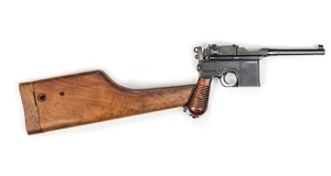 The C96 Mauser pistol of 'Peter the Painter'.
