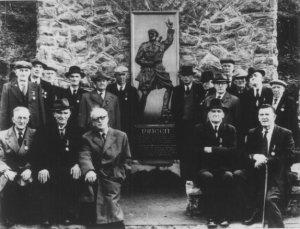 The Rineen ambush memorial at its opening in 1957.