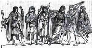 Gaelic Irish warriors.