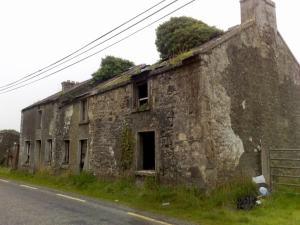 A ruined RIC barrack.