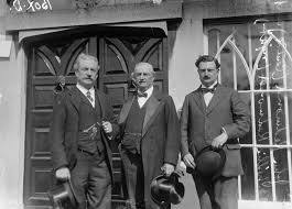 The Redmond dynasty, John Redmond, Home Ruler leader, centre, his brother Willie, left, who died in the First World War and right his son, William, who tried to resurrect the party in the 1920s.