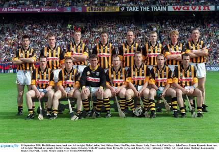 The Kilkenny team that won the 2000 All-Ireland, Andy and Brian Cody's first