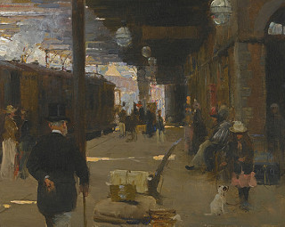 Irish Art Sale at Sotheby's: Hastings Railway Station by Walter Frederick Osborne