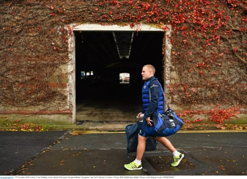 15 November 2015; Leinster's Ian Madigan arrives ahead of the game. European Rugby Champions Cup, Pool 5, Round 1, Leinster v Wasps. RDS, Ballsbridge, Dublin. Picture credit: Ramsey Cardy / SPORTSFILE