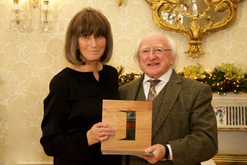 Photos: Presidential Distinguished Service Awards - Gareth Pierce receiving her award from President Michael D. Higgins