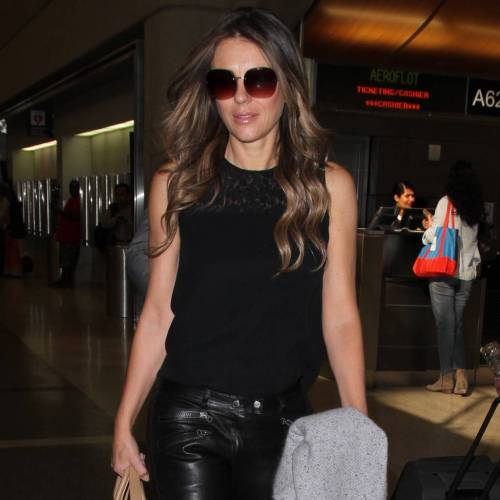Elizabeth Hurley: 'It's a no glamour zone at home'