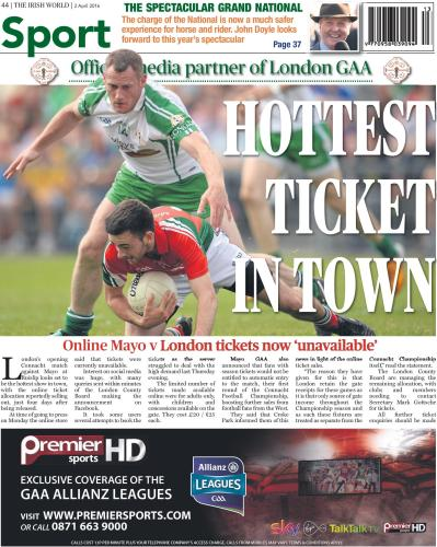 More tickets have been made available since this week's edition of the Irish World
