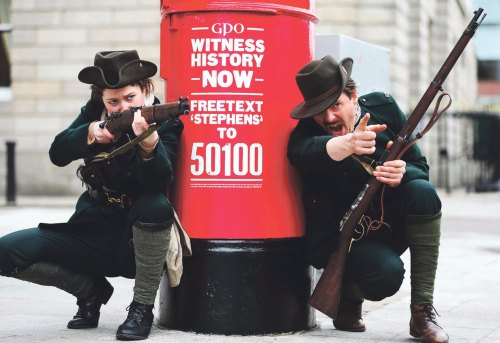 Dublin postboxes painted the same red as 100 years ago