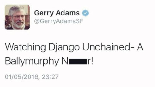 Sinn Fein's Gerry Adams' apology for racist tweet