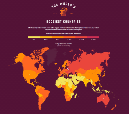 Vouchercloud Reveals Worlds Booziest Countries