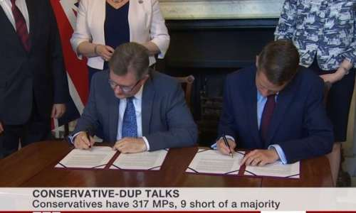 DUP conservative party theresa may agree deal