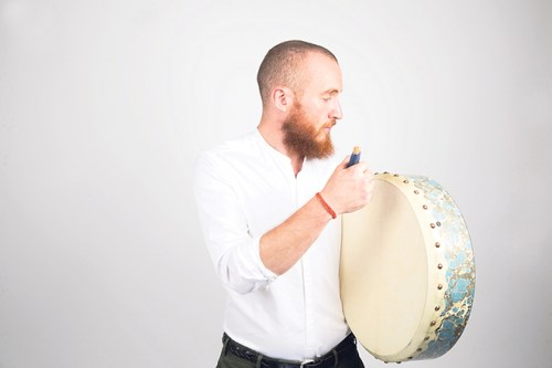 Ruairi Glasheen Drumming own beat Bodhrán percussionist