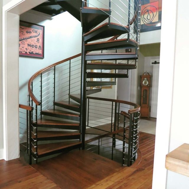 Diy Spiral Staircase As Low As 690 The Iron Shop Spiral Stairs | Spiral Staircase Outdoor Deck | Outside Deck | Built Spiral Stair | Balcony Outdoor | Log | 3 Storey