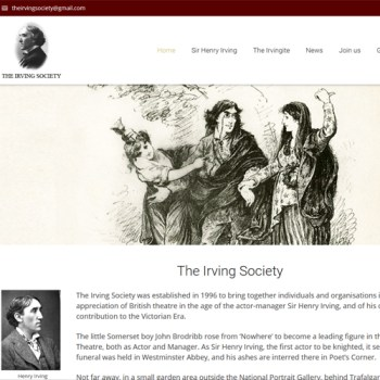 The Irving Society website