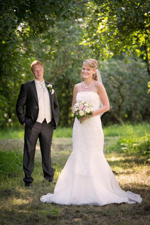 Brud og gom på bryllupsdagen
